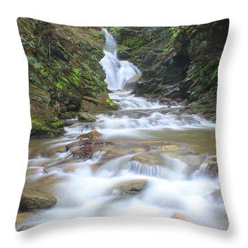 North Adams Cascade  Throw Pillow by John Burk