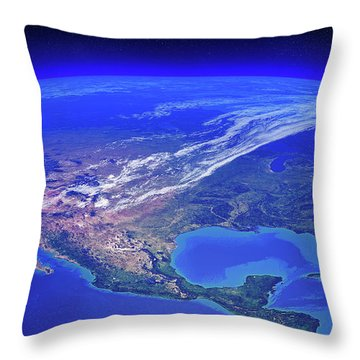 North America Seen From Space Throw Pillow