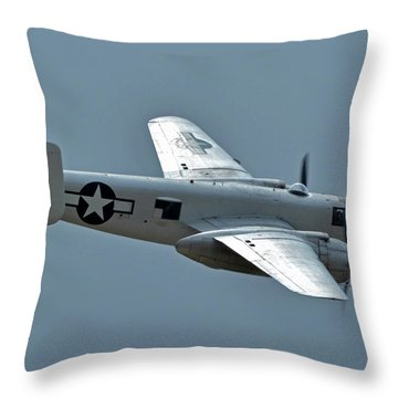 North American B-25j Mitchell N3675g Photo Fanny Chino California April 30 2016 Throw Pillow by Brian Lockett