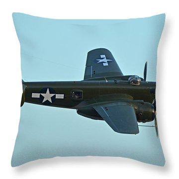 North American B-25j Mitchell N5672v Betty's Dream Chino California April 29 2016 Throw Pillow by Brian Lockett
