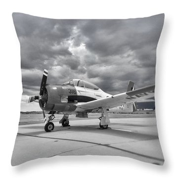 North American T-28 Throw Pillow