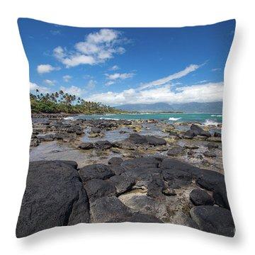North Bay Maui Throw Pillow