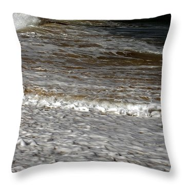 North Beach Oahu I Throw Pillow