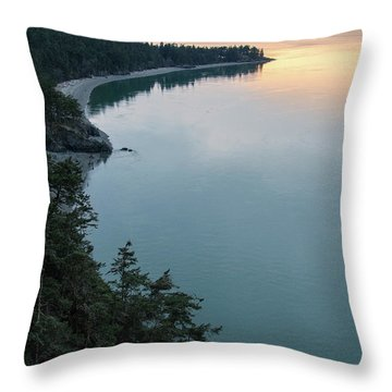 North Beach Of Whidbey Throw Pillow