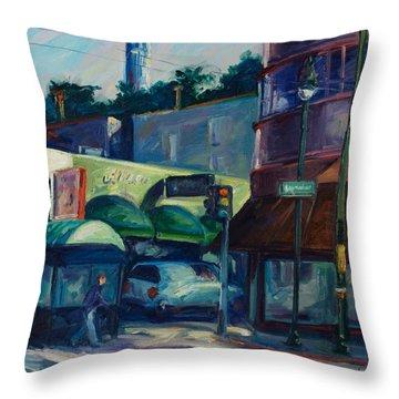 North Beach Throw Pillow by Rick Nederlof