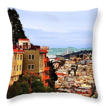 North Beach, San Francisco Throw Pillow