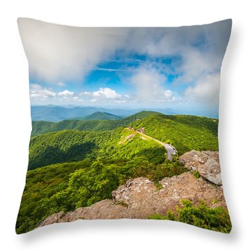 North Carolina Blue Ridge Parkway Asheville Nc Landscape Throw Pillow