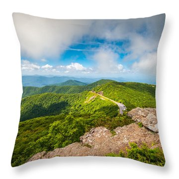 North Carolina Blue Ridge Parkway Asheville Nc Landscape Throw Pillow