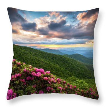 North Carolina Blue Ridge Parkway Scenic Landscape Asheville Nc Throw Pillow