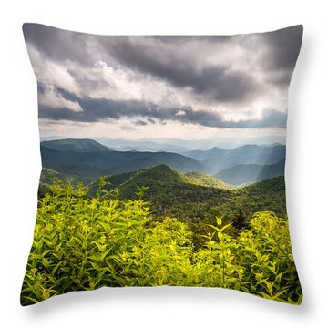 North Carolina Blue Ridge Parkway Scenic Landscape Photography Asheville Nc Throw Pillow