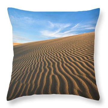 North Carolina Jockey's Ridge State Park Sand Dunes Throw Pillow by Mark VanDyke
