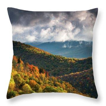 North Carolina Mountains Asheville Nc Autumn Sunrise Throw Pillow
