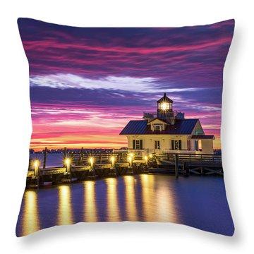North Carolina Outer Banks Lighthouse Manteo Obx Nc Throw Pillow