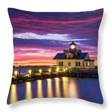 North Carolina Outer Banks Lighthouse Manteo Obx Nc Throw Pillow