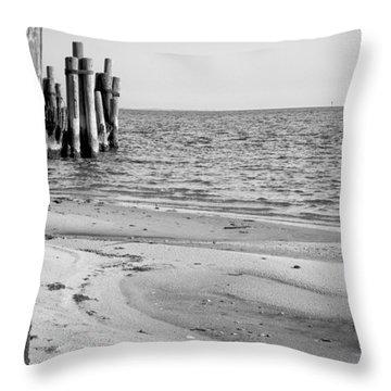 North Carolina Soundscape Throw Pillow by Bob Decker