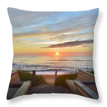 North Carolina Sunrise Throw Pillow