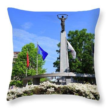 North Carolina Veterans Monument Throw Pillow
