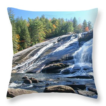 North Carolina's High Falls Throw Pillow