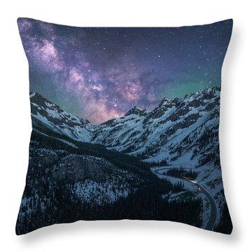 North Cascades Starry Night - Vertical Crop Throw Pillow