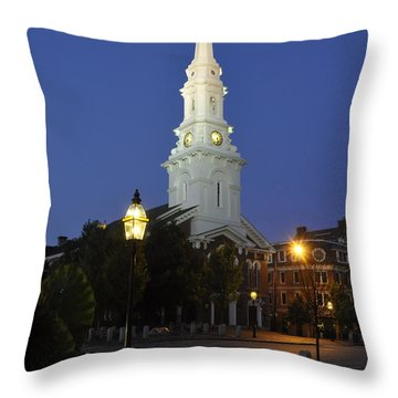 North Church Ncp Throw Pillow by Jim Brage