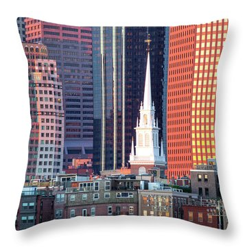 North Church Steeple Throw Pillow by Susan Cole Kelly