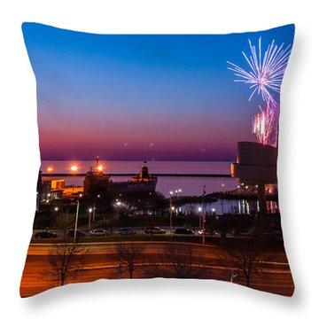 North Coast Harbor Throw Pillow