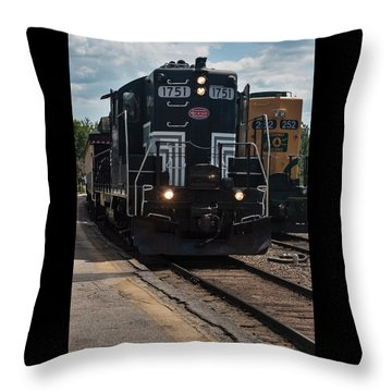 Conway Scenic Railroad - New Hampshire Throw Pillow by Suzanne Gaff