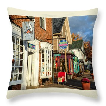 North Conway Village 2 Throw Pillow