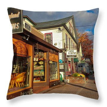 North Conway Village 3 Throw Pillow