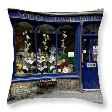 North Cotswold Bakery Throw Pillow