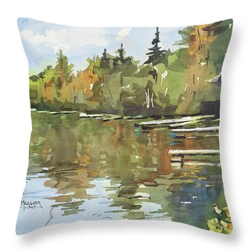 North Country Reflections Throw Pillow