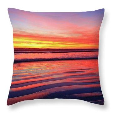 Oceanside Sand Ripples Throw Pillow