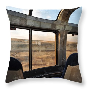 North Dakota Great Plains Observation Deck Throw Pillow by Kyle Hanson