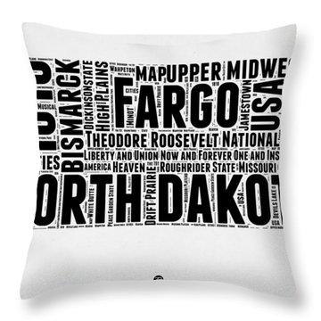North Dakota Word Cloud 2 Throw Pillow