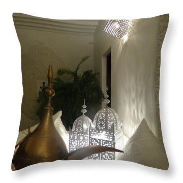 North - Eastern African Home - Lanterns And Jug Throw Pillow