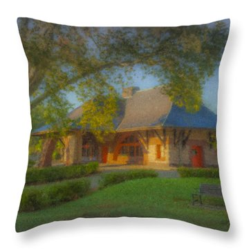 North Easton Train Station Throw Pillow