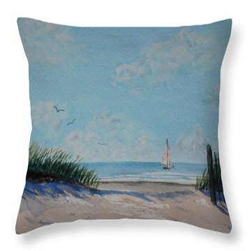 North Forest Beach Throw Pillow