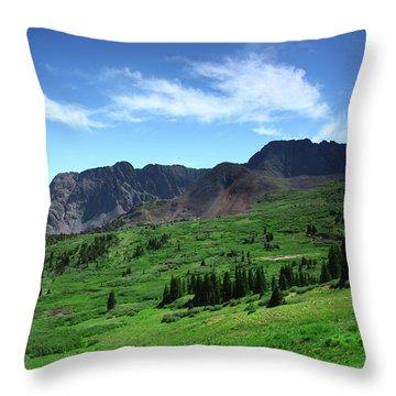 North Fork Lake Throw Pillow