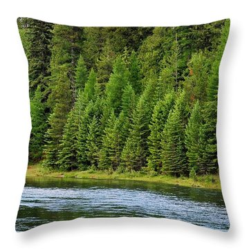 North Fork Of The Flathead Throw Pillow