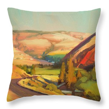 North Fork Touchet Throw Pillow