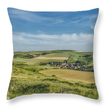 North French Scenery Throw Pillow