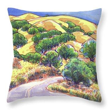 North Gate Road, Mount Diablo Throw Pillow