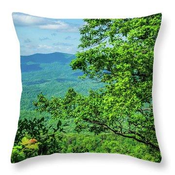 North Georgia Mountains Throw Pillow