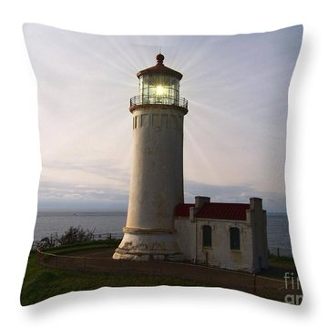 Throw Pillow featuring the photograph North Head Light by Charles Robinson