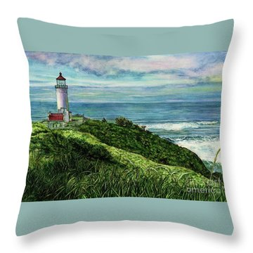 North Head Lighthouse And Beyond Throw Pillow