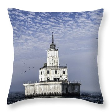 North Manitou Shoal Light Throw Pillow