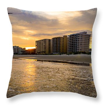 North Myrtle Beach Sunset Throw Pillow