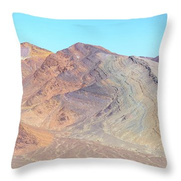 Throw Pillow featuring the photograph North Of Avawatz Mountain by Jim Thompson