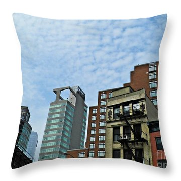 North Of Canal Throw Pillow by Sarah Loft
