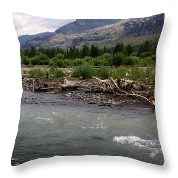 North Of Dubois Wy Throw Pillow by Marty Koch